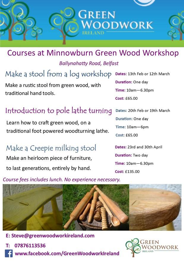 Minnowburn Green Wood Workshop poster
